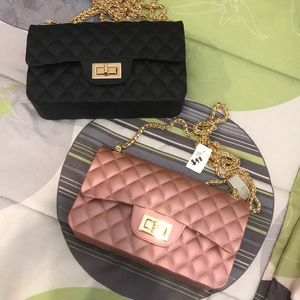 Gold detailed evening purse